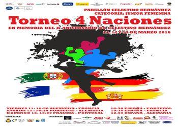 Cartaz 4 Nações - Juniores A Femininas