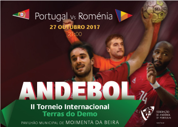 Cartaz Portugal - Roménia - II Torneio Internacional Terras do Demo