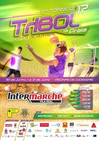 Cartaz 10º Torneio Tribol de Praia Cidade de Vila Real / Intermarché