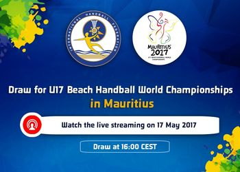 Sorteio Campeonato do Mundo de Andebol de Praia Sub17