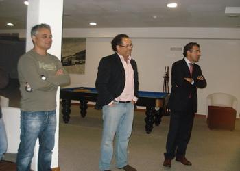 Presidente da Câmara Nazaré e Presidente AA Leiria receberam jogadores