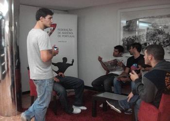 Seleção concentrada na Nazaré 1