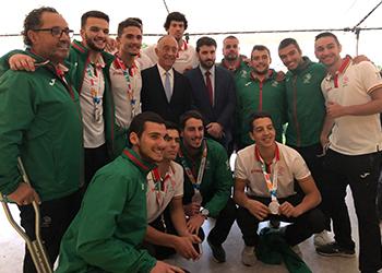 Seleção Nacional Sub-18 Andebol de Praia com Presidente da República Marcelo Rebelo de Sousa