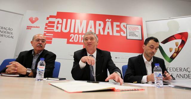 Carlos Cruz, Ulisses Pereira, Miguel Fernandes - Tomada de Posse do Conselho Consultivo - Guimarães, 16.06.2012 - foto FAP/ José Lorvão