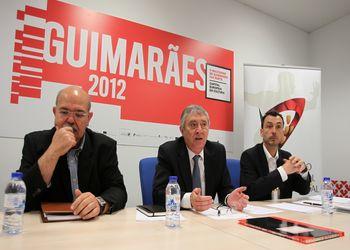Tomada de Posse do Conselho Consultivo - Guimarães, 16.06.2012 - Carlos Cruz, Ulisses Pereira e Miguel Fernandes - foto FAP/ José Lorvão