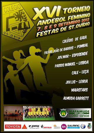 Cartaz Torneio Stº Ovídio 2012