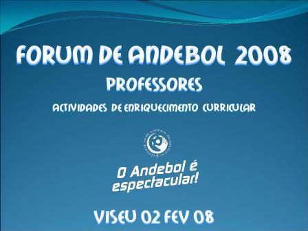 Fórum de Professores 2008