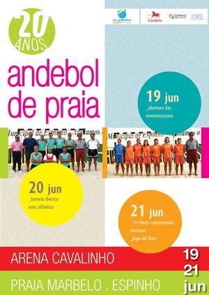 AA Aveiro - Cartaz 20 Anos Andebol Praia
