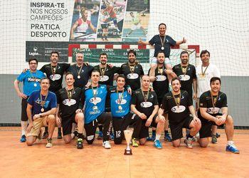 Masters Andebol Porto - Tricampeões Nacionais de Veteranos 2017/2018 - foto: Mário Moreira