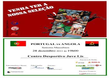 Cartaz jogo Portugal - Angola - 28.11.2011, Juvelis