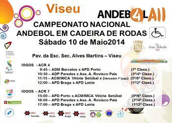 Cartaz Fase Final Campeonato Nacional ACR4 e ACR7