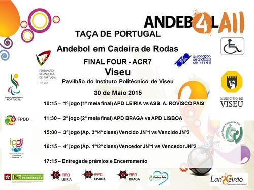 Cartaz Final Four da Taça de Portugal em ACR7