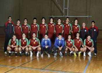 Selecção Nacional Junior B Masculina e equipa técnica - época 2009-10