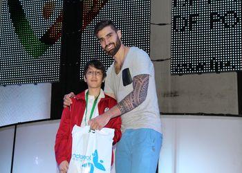 Diogo Santos recebe prémio de Nuno Grilo, padrinho do ENM