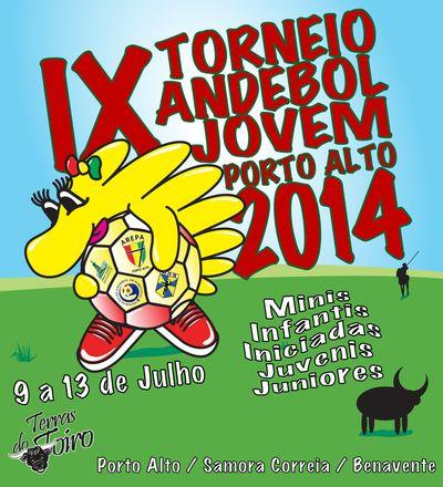 Cartaz IX Torneio de Andebol Jovem Arepa 2014