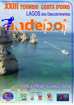 Cartaz XXIII Torneio Costa D'Oiro Lagos dos Descobrimentos 2014