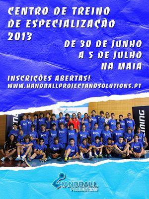 Cartaz Centro de Treino de Especialização 2013 (CTE) da Handball Project