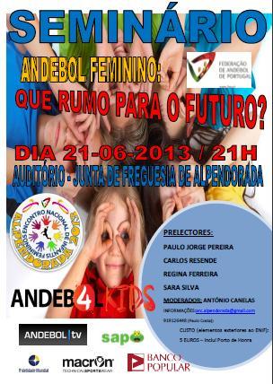 "Cartaz Seminário: ""Andebol Feminino - Que rumo para o Futuro?"""