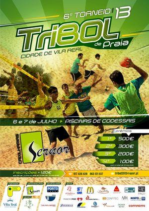 Cartaz 6º Torneio Tribol de Praia Cidade de Vila Real / Sernor Caixilharias