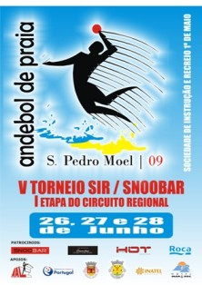 Cartaz 1ª Etapa do Camp. Regional Andebol Praia - 26 a 28.06.09 - AA Leiria