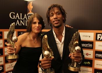 Ana Seabra e Gilberto Duarte - Jogadores do ano - Gala 2012 - Foto José Lorvão