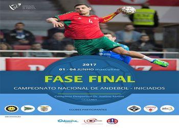 Cartaz Fase Final Campeonato Nacional Iniciados Masculinos - Odemira, 1 a 4 Junho 2017