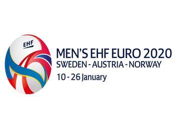 Logo Campeonato da Europa Seniores Masculinos Suécia-Áustria-Noruega 2020