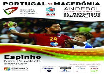 Cartaz Portugal : Macedónia - 04.11.12, Espinho - qualificação Euro 2014