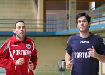 Hugo Laurentino e Fábio Magalhães - Treino estágio Tavira - Outubro 2012