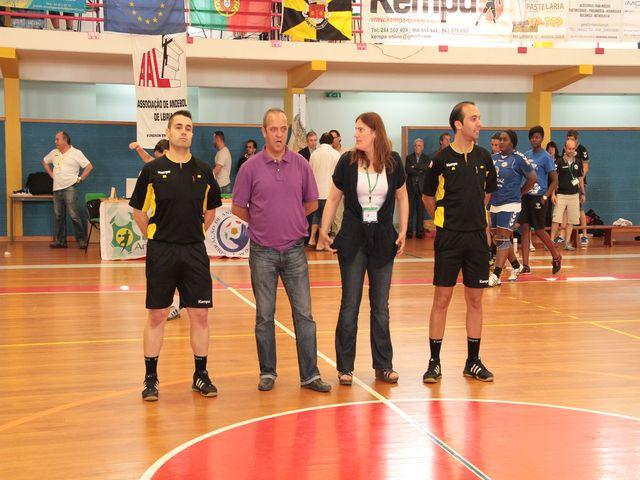 Equipa de arbitragem - cerimónia de entrega de prémios - final da Taça de Portugal Seniores Femininos