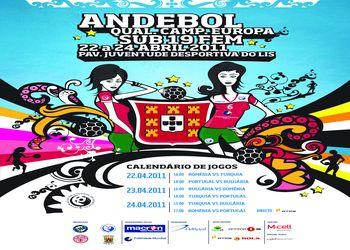 Cartaz Qualificação Sub-19 femininas - 22 a 24.04.2011, Leiria