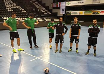Treino Sporting CP (Presov) - Qualificação Velux EHF Champions League 2017 (2)