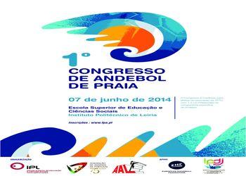 Cartaz 1º Congresso Andebol Praia