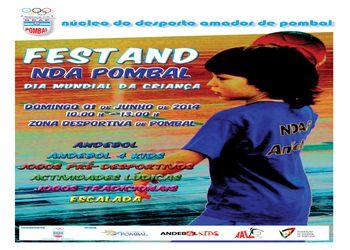 Cartaz Festand NDA Pombal - Dia Mundial da Criança