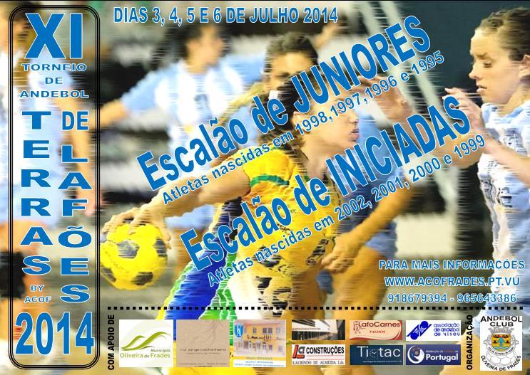 Cartaz XI Torneio de Andebol Terra de Lafões 2014 - Oliveira de Frades