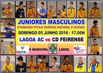 Cartaz Lagoa AC : CD Feirense - segunda mão da final do Campeonato Nacional de Juniores Masculinos da 2.ª divisão