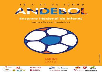 Cartaz Encontro Nacional Infantis Masculinos e Femininos Leiria 2015