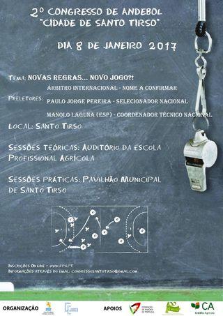 Cartaz 2º Congresso de Andebol - Cidade de Santo Tirso