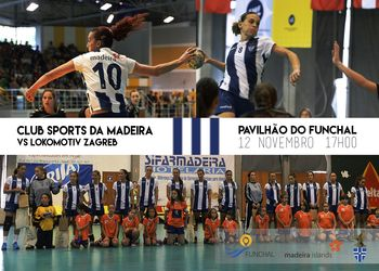 Cartaz CS Madeira : HC Lokomotiva Zagreb - Challenge Cup