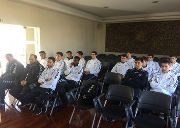 Selecção Nacional de Juniores C Masculinos - receção na Sede da Junta de Freguesia de Leça da Palmeira