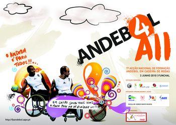 Cartaz 7ª Acção Nacional de Formação de Andebol em Cadeira de Rodas - Funchal, 03.06.10