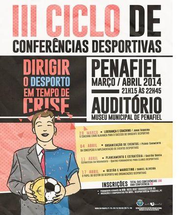 """Cartaz III Conferências Desportivas - """"Dirigir o Desporto em Tempo de Crise"""""""