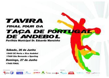 Cartaz Taça de Portugal Seniores Masculinos - Tavira, 26 e 27 Junho 2010