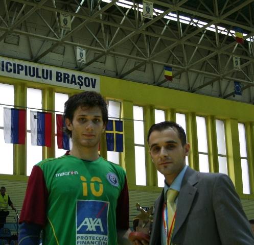 Campeonato Europeu Sub20 Masculino Roménia 2008 - Eslováquia : Portugal - Melhor Jogador: Fábio Magalhães
