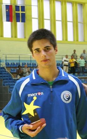 Campeonato Europeu Sub20 Masculino Roménia 2008 - Rússia : Portugal - Melhor Jogador: Pedro Maia