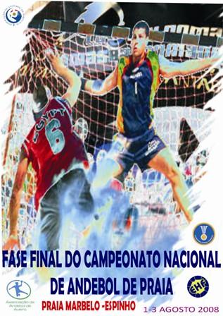 Cartaz Fase Final VIII Campeonato Nacional Andebol Praia