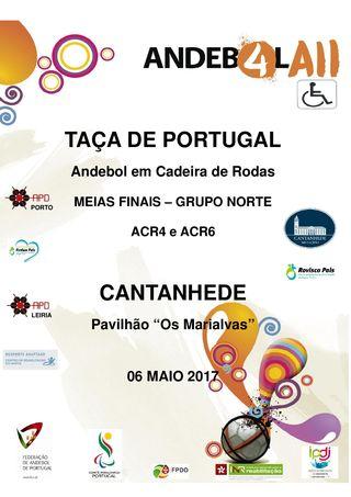 Cartaz Meias Finais das Taças de Portugal de ACR4 e ACR6 – Grupo Norte