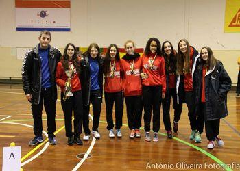 Seleção Nacional Juniores A femininas - 1º lugar Colgaia 2014