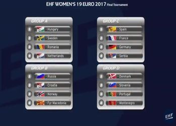 Sorteio Campeonato da Europa Sub19 Femininos