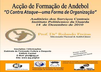"""Cartaz Acção Formação IPG - """"O Contra-Ataque - Uma Forma de Organização"""" - 14.12.10"""